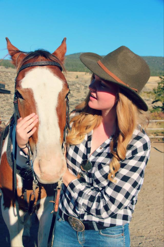 Taylor Nichols and her horse Chinook.
