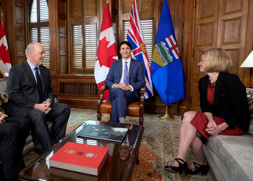 Justin Trudeau, John Horgan, Rachel Notley, Parliament Hill, Kinder Morgan, Trans Mountain pipeline expansion,