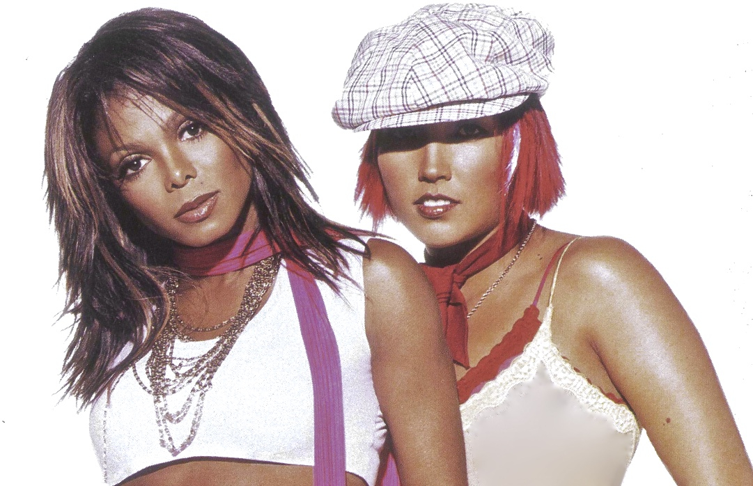 On tour, Janet Jackson and Canadian dancer Kelly Konno