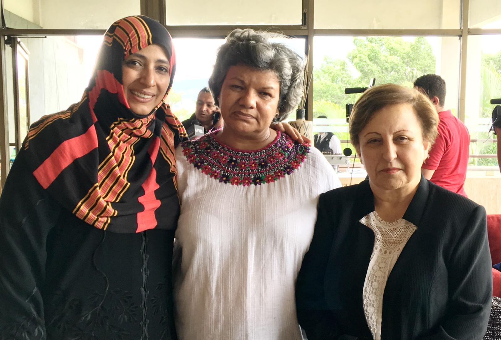 Sandra Maribel Sanchez, Radio Progreso, Honduras, Tegucigalpa, Shirin Ebadi, Tawakkol Karman, Nobel Peace Prize, Yemen, Iran