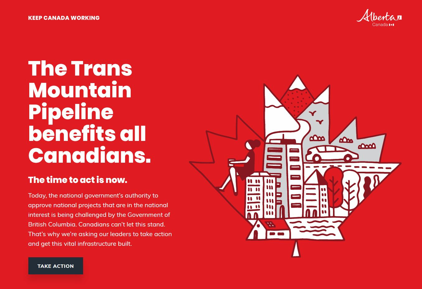 Alberta government displaying billboards across BC supporting Trans Mountain Pipeline