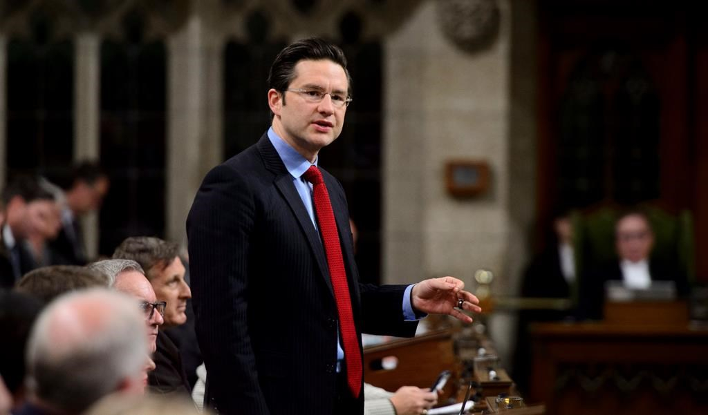Conservative MP Pierre Poilievre, House of Commons, Parliament Hill,