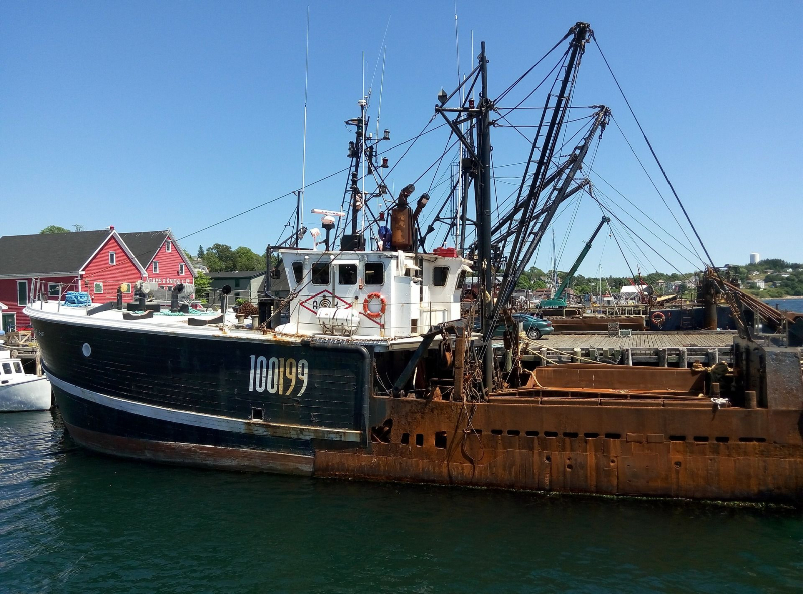 A fishing boat sits in Lunenburg's harbour. The industry is still an important player in Lunenburg's economic stability. Photo from Creative Commons