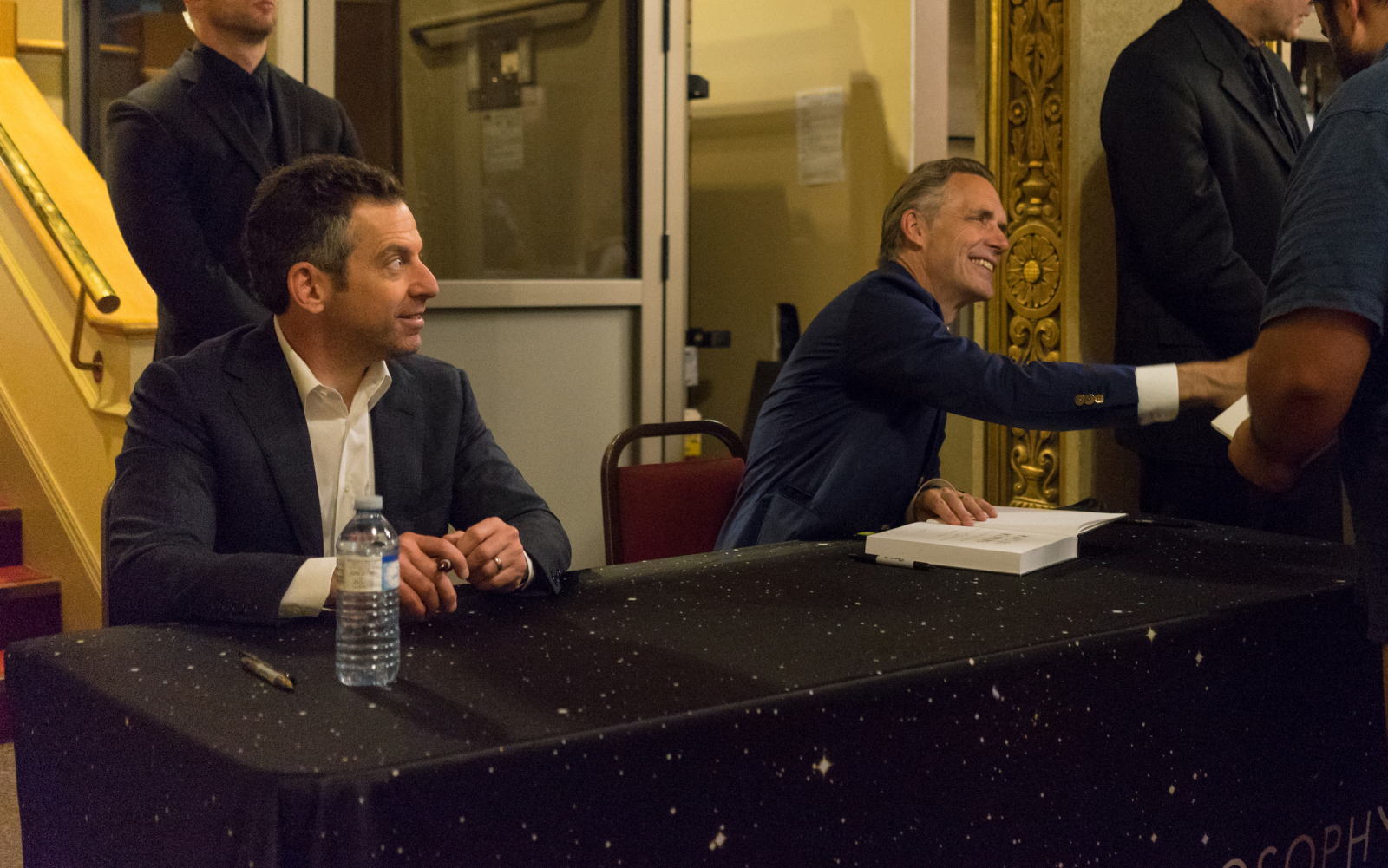 Sam Harris and Jordan Peterson waste a lot of time, then talk about