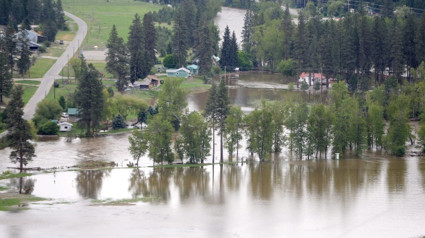 Flooding in BC 2018. CP photo.
