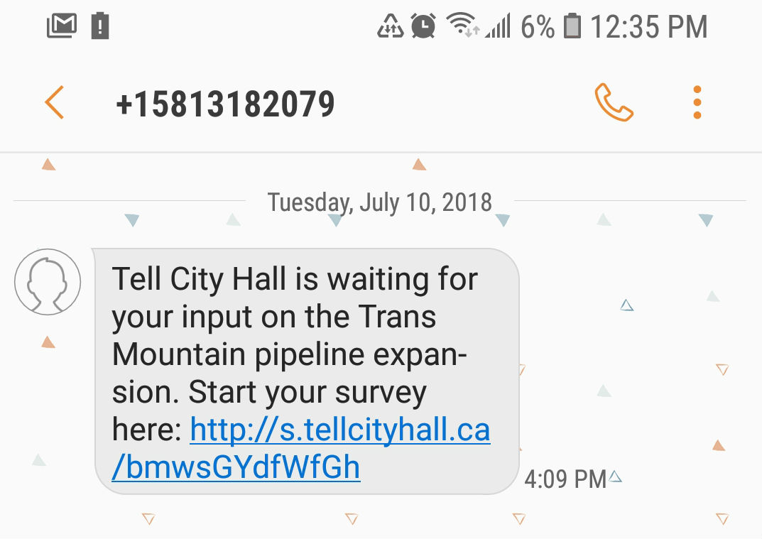 Tell City Hal, Trans Mountain expansion, British Columbia, Alberta, advertising, pipelines