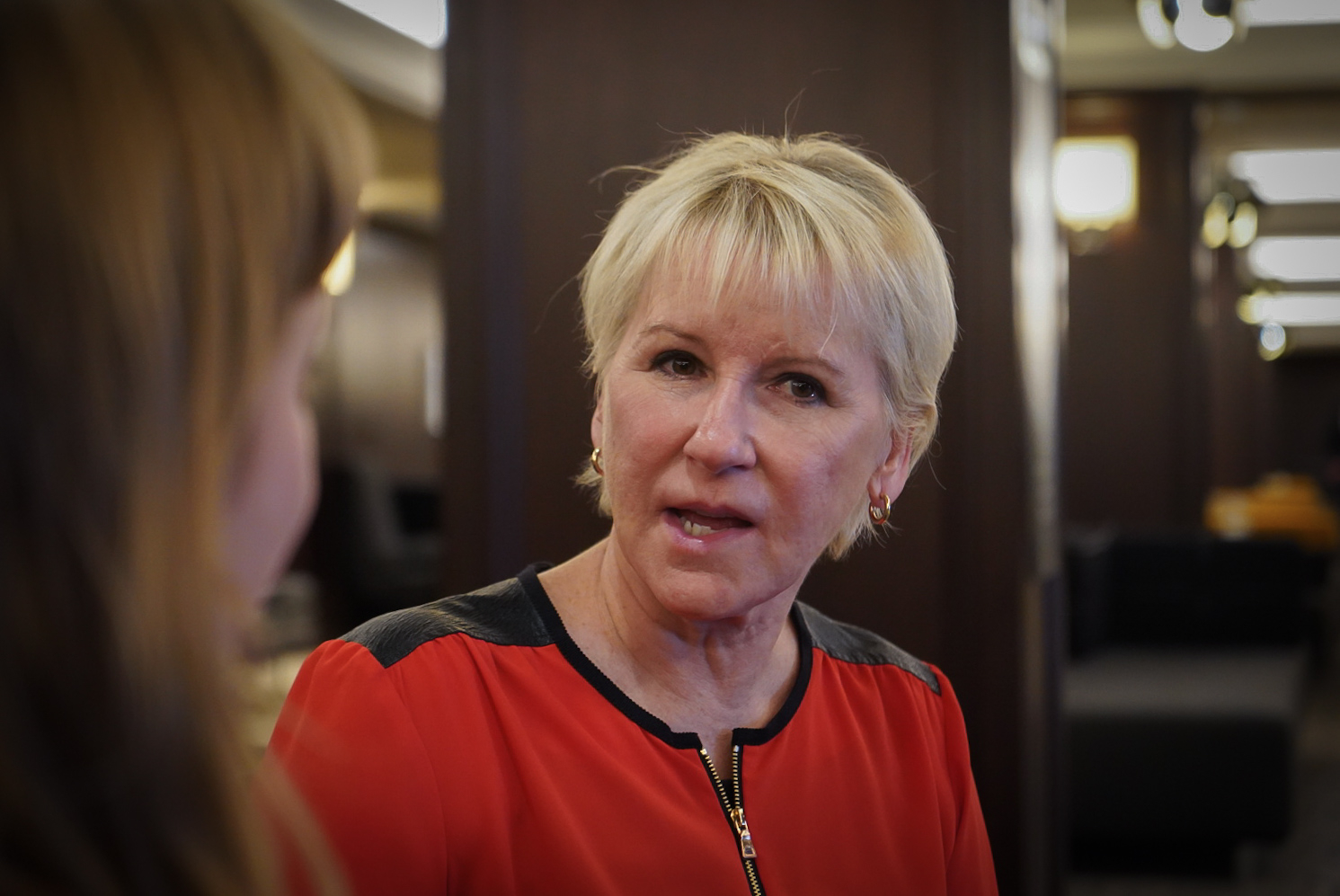 Margot Wallström at the female foreign ministers meeting in Montreal in September 2018