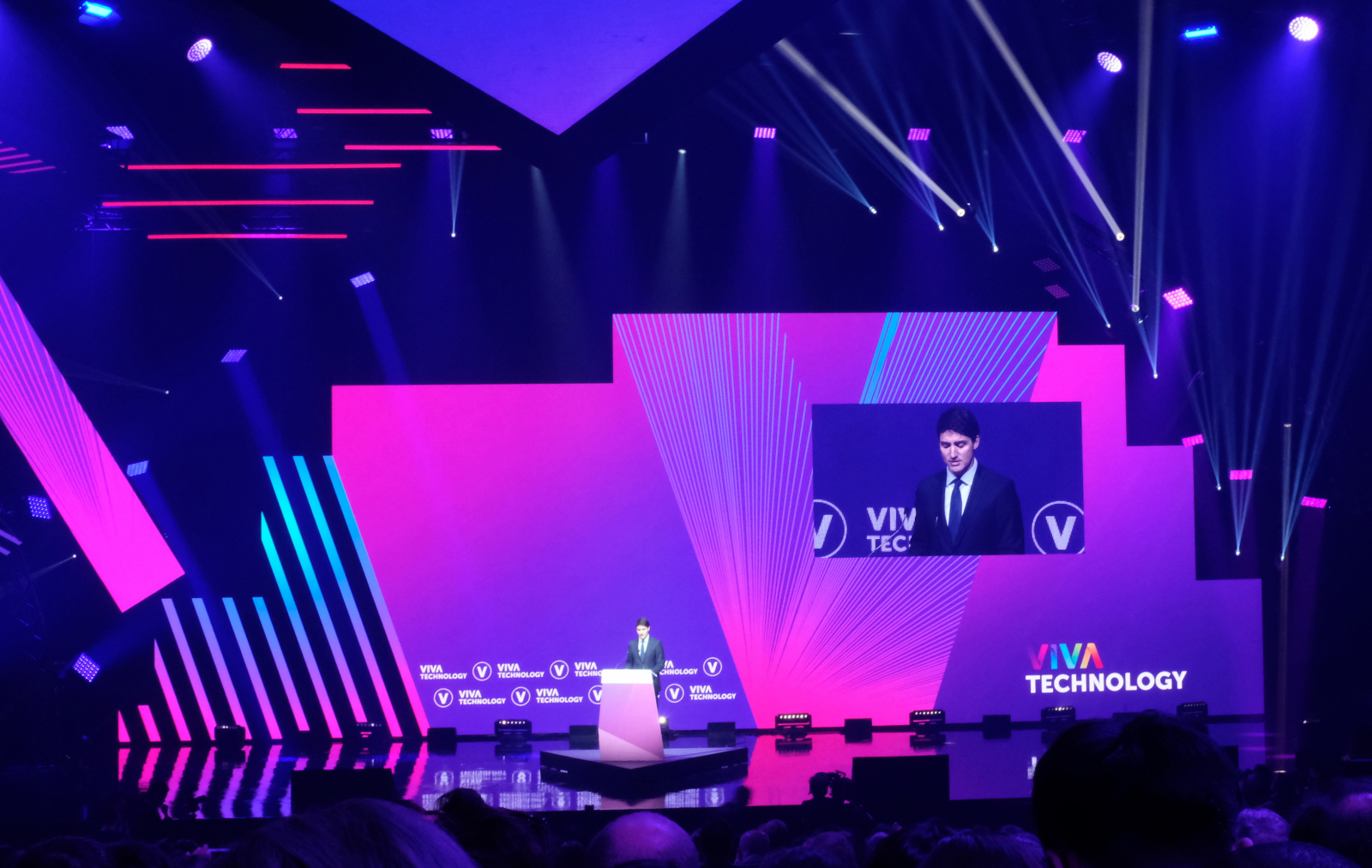 Prime Minister Justin Trudeau at Viva Technology conference in Paris on May 16 2019