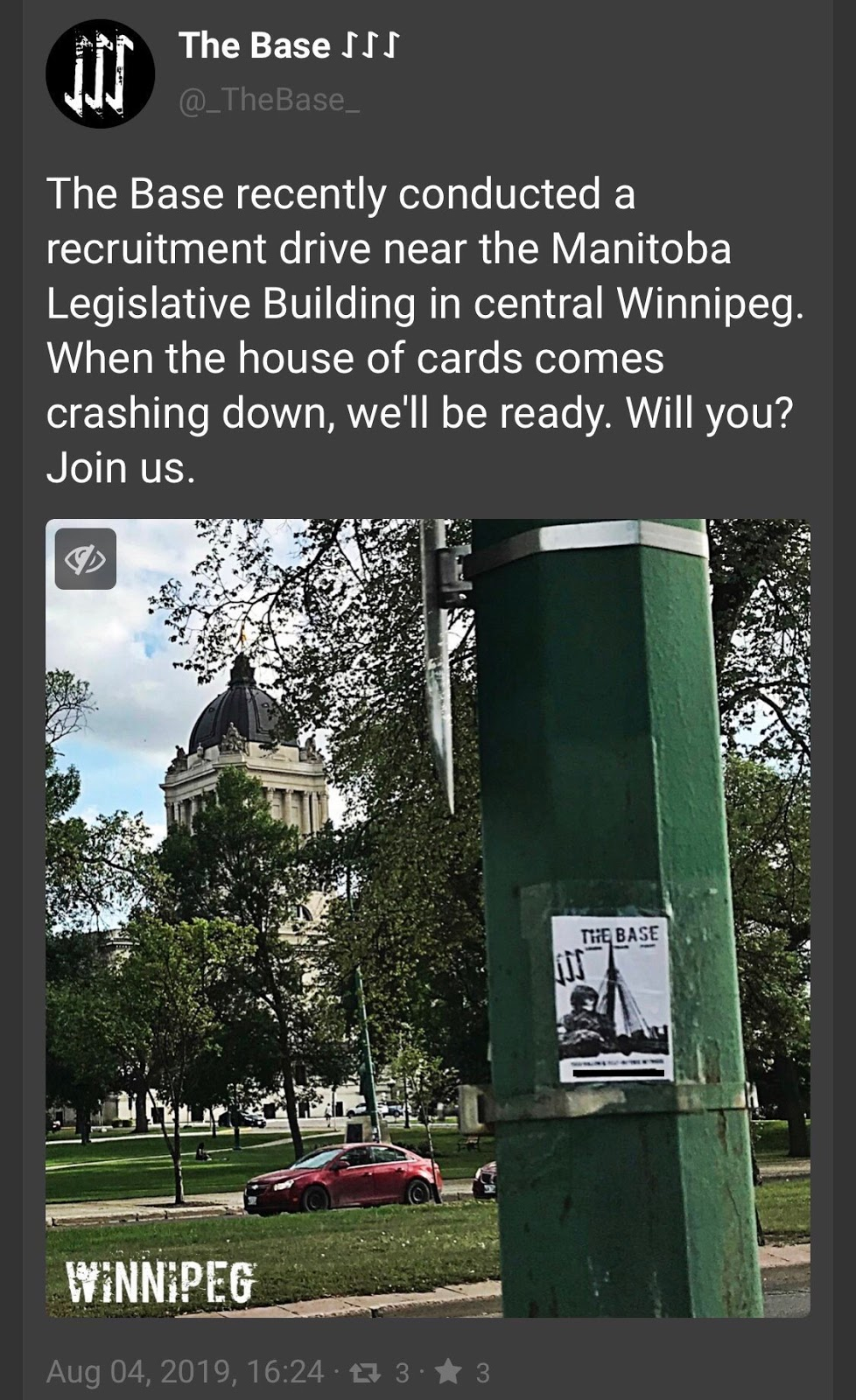 the base_neo nazi recruitment in winnipeg