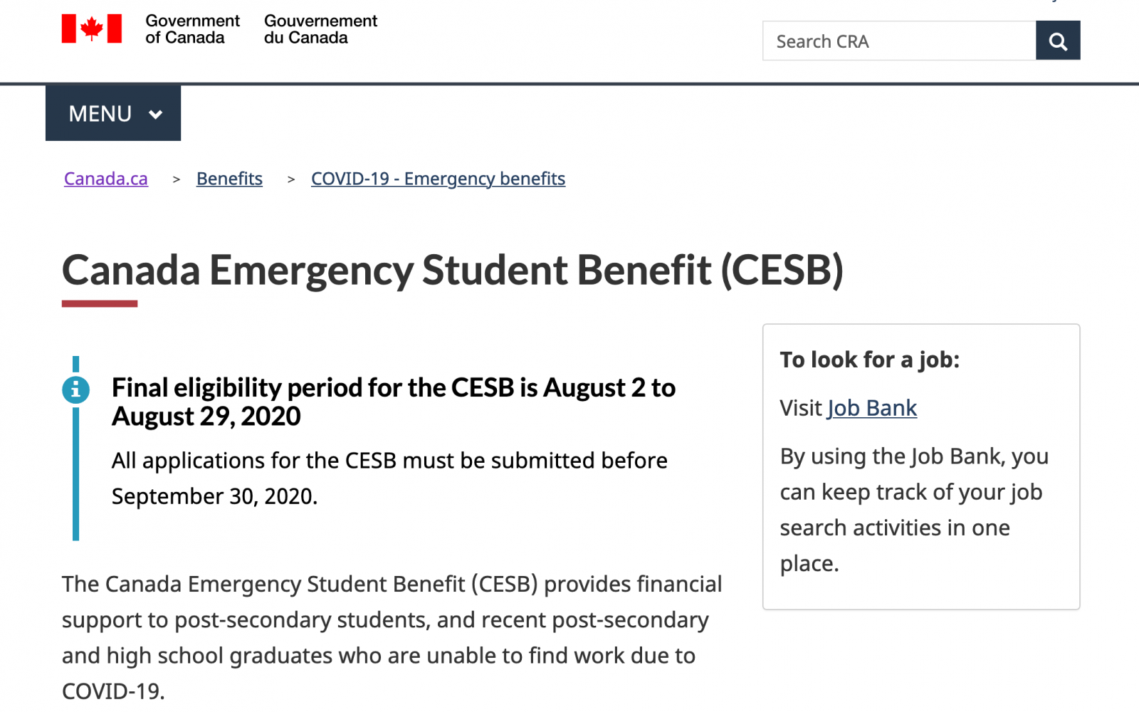 Ottawa announces more details on ending the Canada Emergency Response Benefit