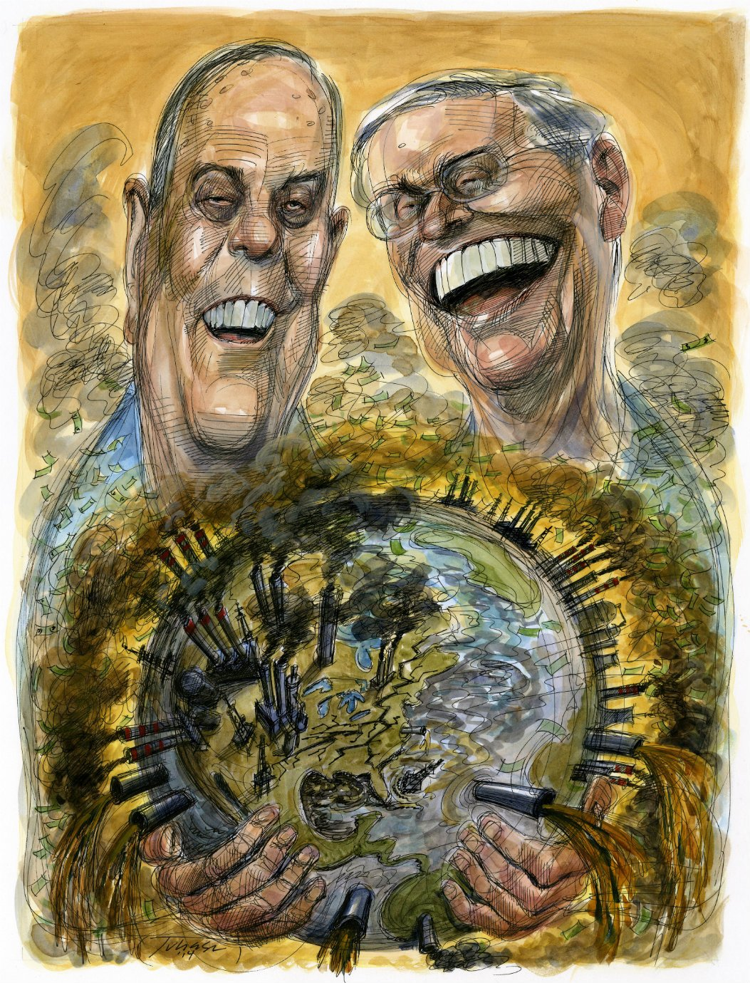 Are the billionaire American Koch brothers playing climate