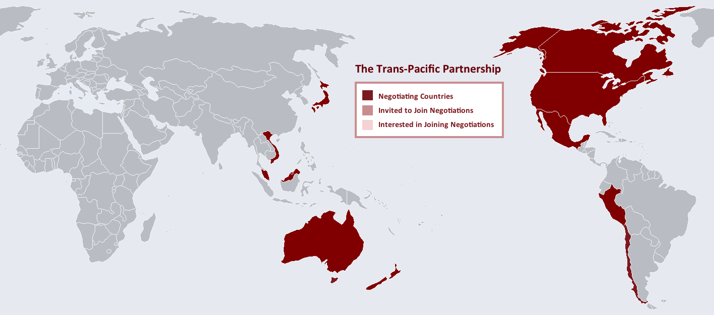 Some Highlights Of The New 12 Country Trans Pacific Partnership