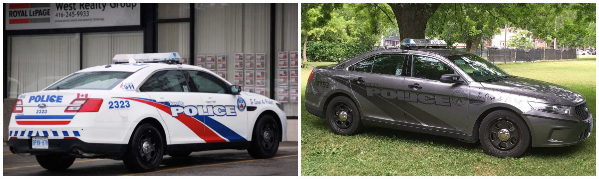 why did canadian police cars become so menacing