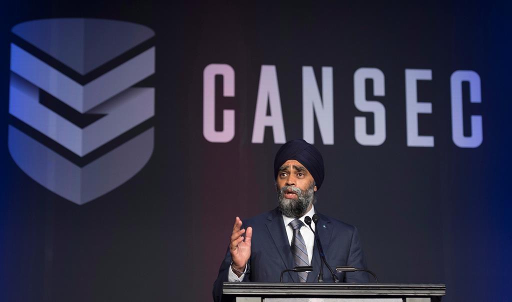 Canada's defense minister threatens Boeing deal in speech
