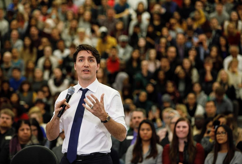 Justin Trudeau corrects woman to say 'peoplekind' rather than 'mankind'