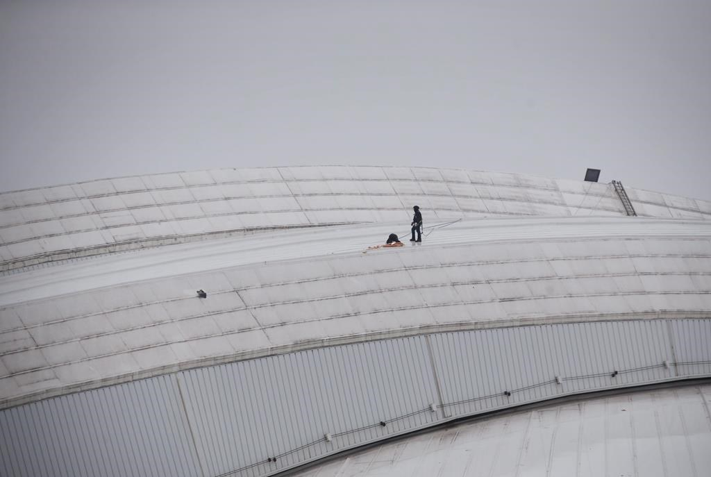 Ice damage to Rogers Centre roof causes rare postponement at domed stadium