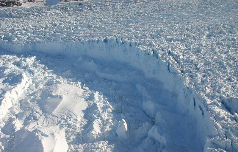 Incredible video shows 4-mile iceberg breaking in Greenland