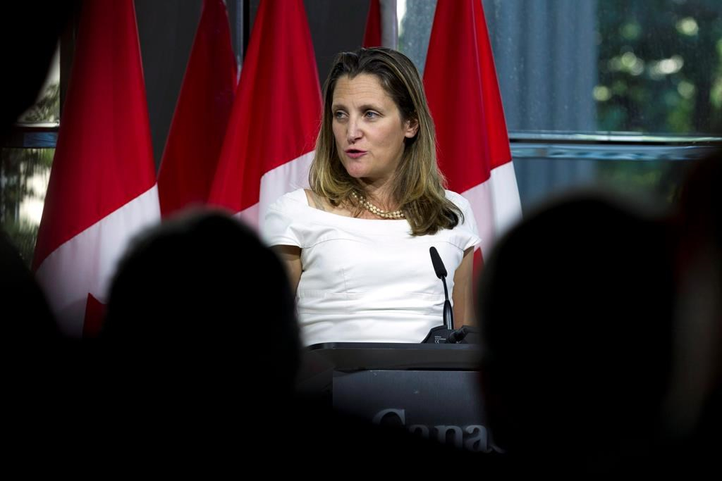 Freeland to meet Lighthizer in Washington Tuesday