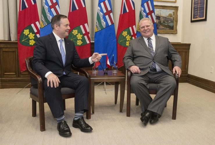 Ontario Premier Doug Ford, Alberta Premier Jason Kenney,