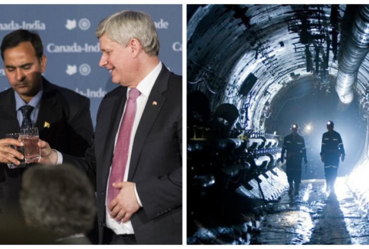 Harper, Modi, cameco, uranium, india, canada