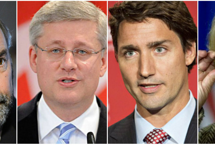 Election 2015, Canada election, federal election, Mulcair, May, Trudeau, Harper