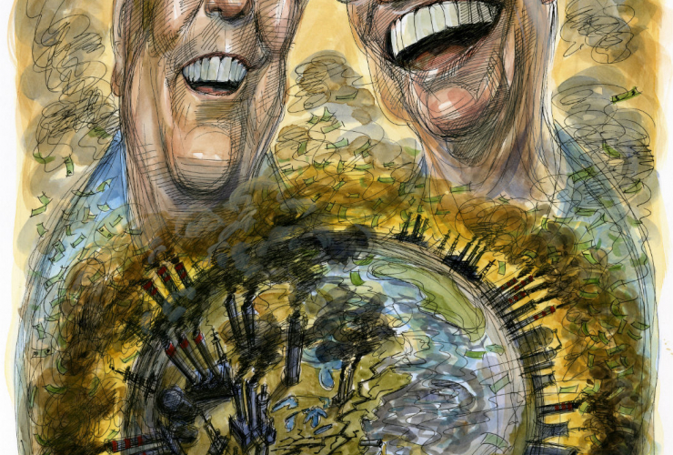 Koch brothers, David and Charles Koch,