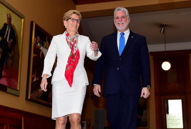 Climate change, Ontario, Quebec, Premier Wynne, Premier Couillard