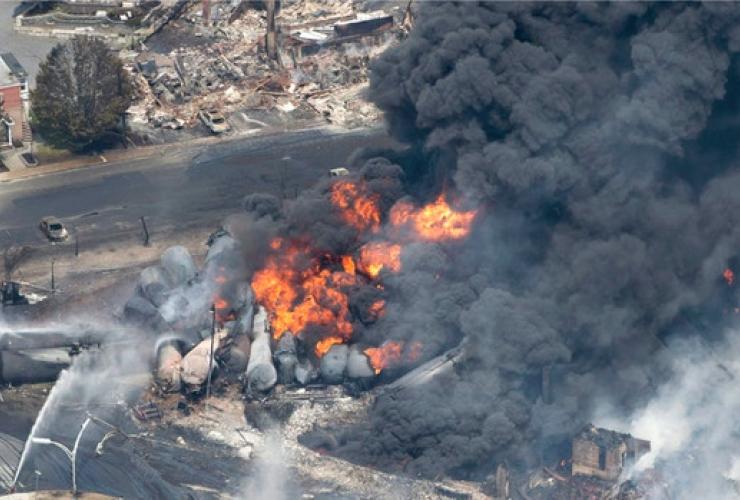 Lac Megantic, train explosion, oil train