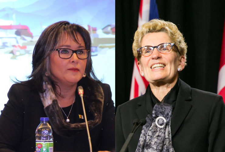 Environment Minister Leona Aglukkaq and Ontario Premier Kathleen Wynne - National Observer - Climate Summit of the Americas