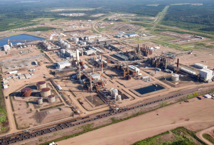 Nexen oil sands facility near Fort McMurray