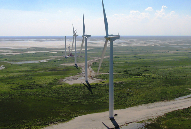 Giant wind turbines. Photo from Pattern Energy Group