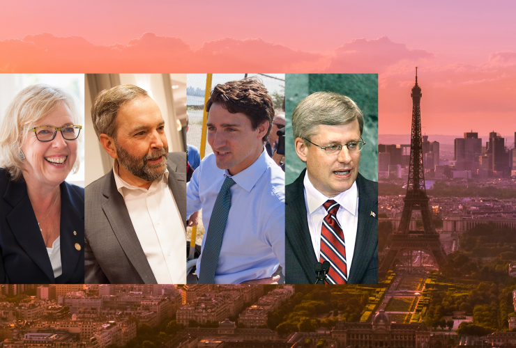 Canada Paris UN Summit climate change Harper Mulcair Trudeau Mulcair - National Observer