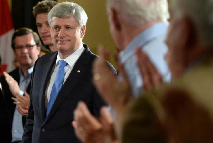 Harper on the campaign trail. Canadian Press photo