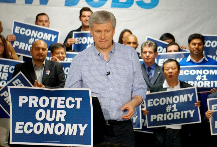 Stephen Harper, Conservative Party, Postmedia endorsement, Postmedia, Canadian economy