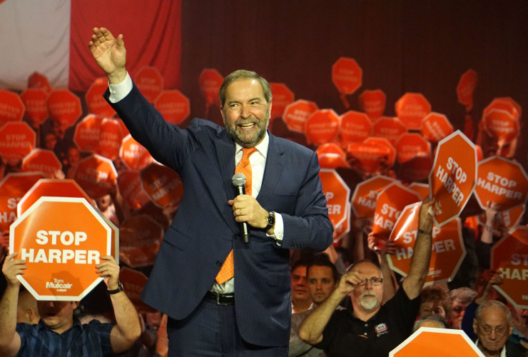 Tom Mulcair, NDP, 2015 federal election, Vancouver, B.C.