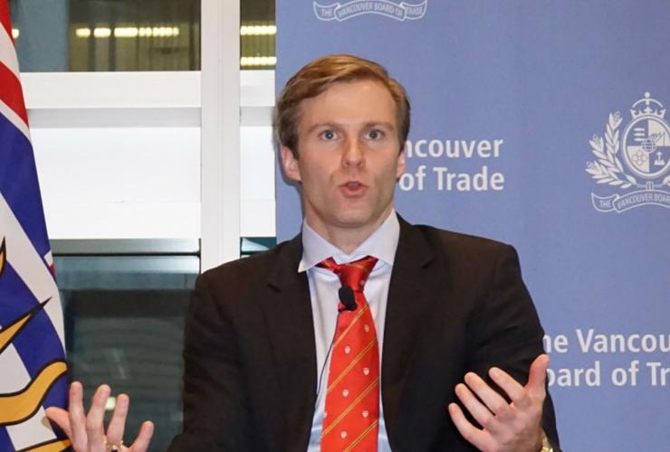 New Brunswick, premier Brian Gallant, Vancouver Board of Trade