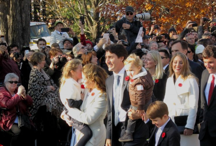 Justin Trudeau, Rideau Hall, swearing in, Liberal Party of Canada