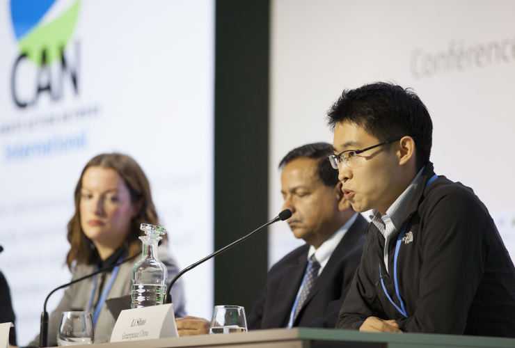 Li Shuo Greenpeace China at COP21 Paris Summit - Mychaylo Prystupa _MG_6258.jpg