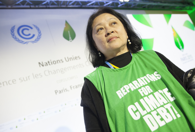 Lidy Nacpil Asian People Movement on Debt and Development to a Paris COP21 crowd - Mychaylo Prystupa _MG_6954 w3000