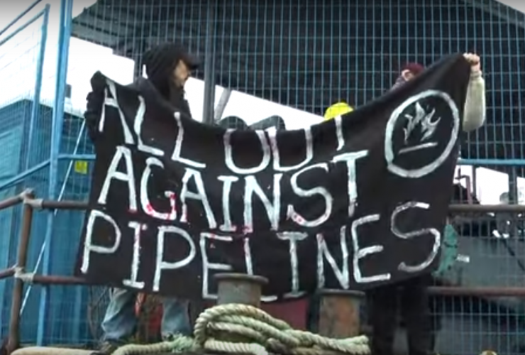 Kinder Morgan, pipeline protest, Trans Mountain expansion, Burnaby