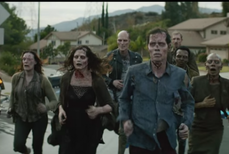 Zombies on the run in Brooks Running's new commercial. Video still courtesy of Brooks Running