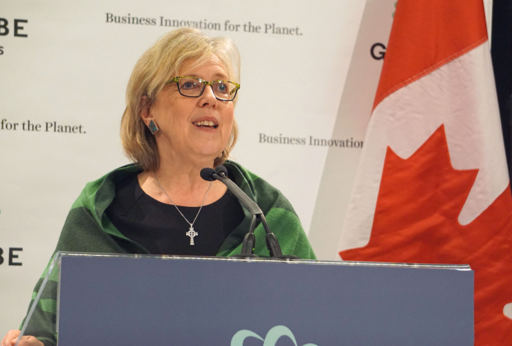 Elizabeth May, Green Party, Kinder Morgan, Energy East, Globe Series 2016