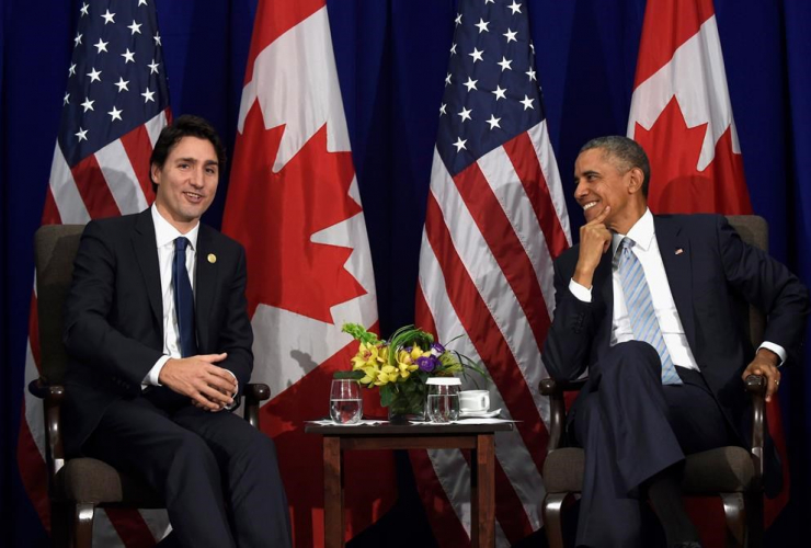 Prime Minister Justin Trudeau on his first US state visit with President Barak Obama