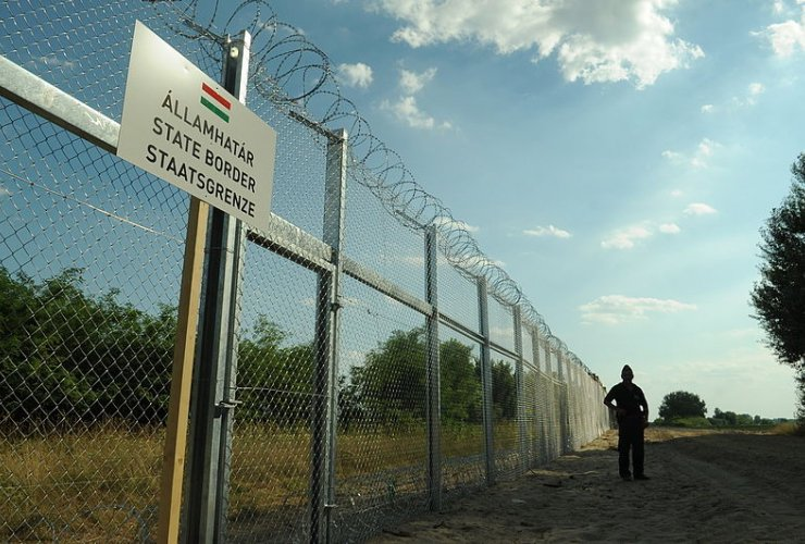 Syrian European Refugee Crisis Hungary's border fence