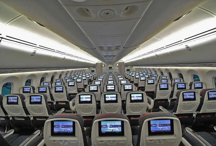 Airline interior. Photo from Air Canada
