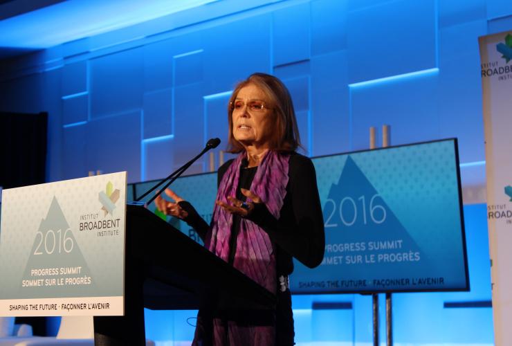Gloria Steinem speaks at Progress Summit in Ottawa