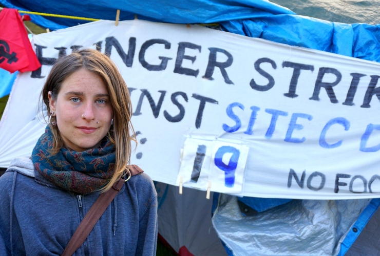 Kristin Henry, hunger strike, Site C Dam, BC Hydro, protest, West Moberly
