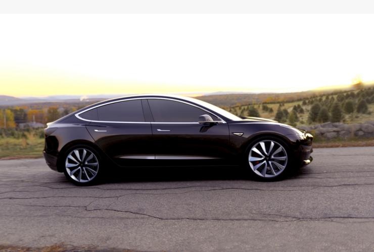 Telsa's Model 3. Photo from Tesla