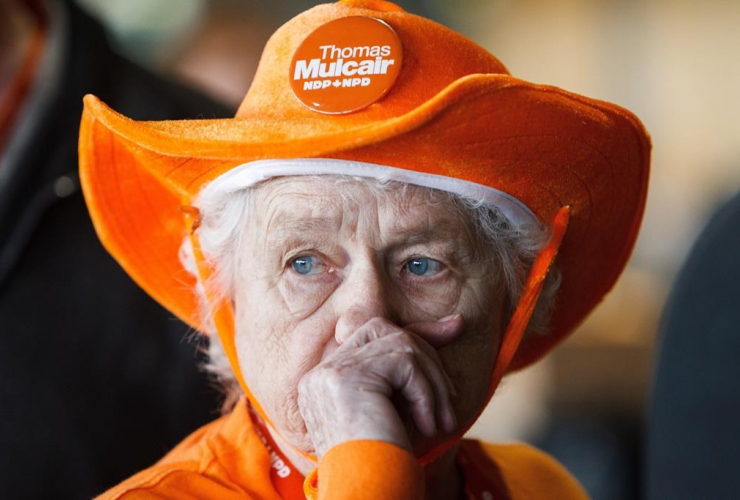 Mulcair supporter at NDP 2016 convention