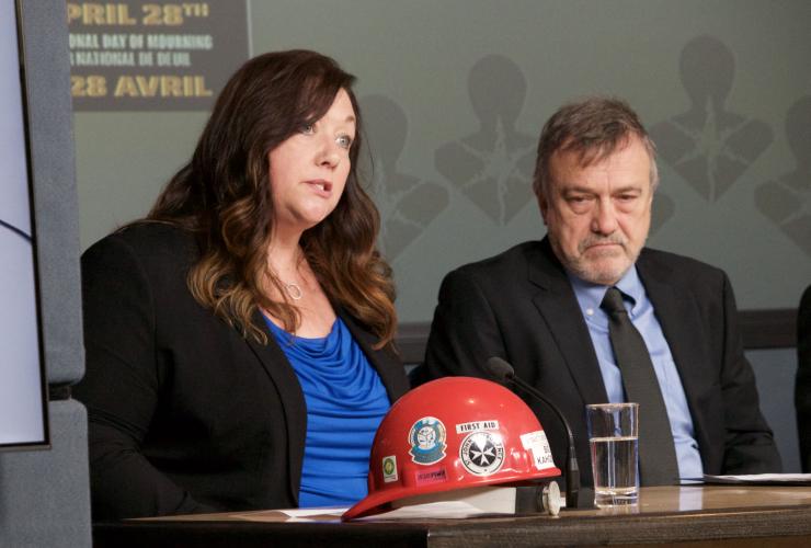 Michelle Côté and Paul Demers